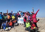 بام خوزستان زیر پای کوهنوردان باشگاه دنالی یاسوج